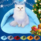 Pet Cat Dog Nest Bed Puppy Soft Fashion Warm Cave House Sleeping Bag Mat Pad New