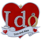 MAXORA I DO Newlywed Wedding Personalized Christmas Ornament Home Decoration