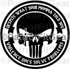 Punisher Skull,Despite What Your Momma Told You,Molon Labe,2A,3%,Vinyl Decal