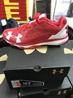 Under Armour DeceptionTrainer Men's Baseball Turf Shoes- RED NEW