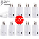 Lot Adaptive Fast Rapid Charging Wall Charger US Plug For Samsung Galaxy Phones