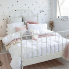 New Kids by Pillow Talk Pinch Pleat White Quilt Cover Set