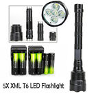 80000Lumen Police Tactical XM-L 7x T6 LED Flashlight Torch Lamp 5Modes 18650BTY@