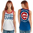 Chicago Cubs Tank Top Women's Opening Day Mesh G-III White/Blue MLB