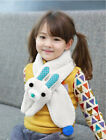 Внешний вид - Cute Girls Kids Rabbit  Warm Fleece Scarf Neck Warmers Scarves