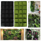 18 Pocket Wall Hanging Garden Planter Bag Indoor Outdoor Vertical Herb Pot US