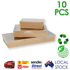 25 x Corrugated Cardboard Catering Trays with Lids Boxes with Window Kraft/White