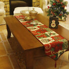 Christmas Flower Table Runner Tablecloth Placemat Holiday Party Event Xmas Decor