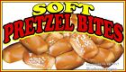 Soft Pretzel Bites (Choose Your Size) DECAL Food Truck Concession Menu Sticker