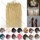 26inch Remy Human Hair Extension Easy Loop Micro Ring Beads Ombre Straight 100s