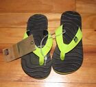 Reef Boys Girl Black Green Grom Roundhouse Flip Flops Sandals 11/12,13/1,2/3 NWT