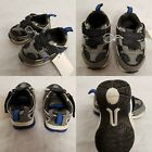 Boys Grey And Blue Velcro Trainers - 4 Sizes Avaibale