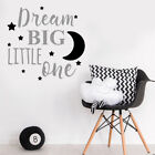 Nursery Wall Sticker Decal Childrens Dream Big Little One Quote Bedroom Decor