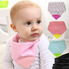 Baby Teething Bandana With Silicone Teether Chewable Neckerchief Bibs BPA Free