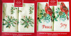 Lenox Holiday Christmas Fingertip Towels, Set of 2 New in Box