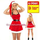 White Christmas Costume Mrs Santa Claus dress M XL sz 8 10 12 14