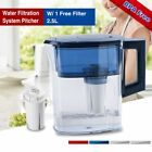 best tasting water filter pitcher - Water Filtration Pitcher 2.5L Big Jug  Increases Alkalinity Skin Protection Best