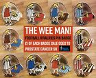 THE WEE MAN - FOOTBALL RIVALRIES ENAMEL BADGE - VARIOUS CLUBS & COLOURS.