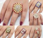 Indian Rings Gold Plated Jewellery Adjustable Finger Rings