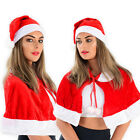 Ladies Christmas Hat Mrs Claus Red White Fun Novelty Fancy Dress Multiple Pairs