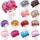 IM- Women Waterproof Dot Flower Hair Cover Elastic Bath Bathing Shower Cap Eyefu