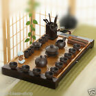 authentic yixing zisha tea set complete Chinese tea sets solid wood tea tray new