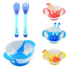 IM- Baby Child Kids Suction Cup Feeding Bowl + Spoon + Fork Tableware Set Exquis
