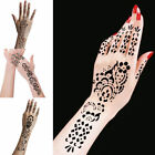 India Nepal Henna Left Right Hands Body Decal Tattoo Stencil Sticker Template