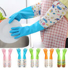 EP_ 1Pair Housework Dish Washing Up Cleaning Waterproof Long Sleeve Gloves Hot