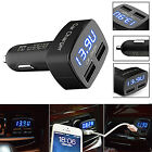 With LED Digital Display 5V Mini Dual USB Car Autos Charger Adapter For Phone UK