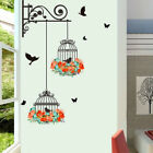 Flower Vine Bird Cage Wall Stickers Art Decal Home Decor Mural Vinyl Removable