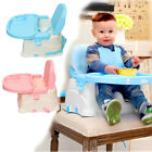 Adjustable Baby Toddler Booster Feeding High Chair Safety Seat With Harness Tray