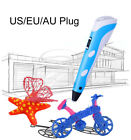 Blue 3D Printing Pen 2nd Drawing Crafting Arts Printer Modeling ABS PLA Kid Gift