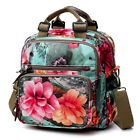 National Style Outdoor Flower Pattern Shoulder Crossbody Bag Mommy Backpack Tote