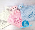 Personalised baby comforter blanket security blanket Teddy bear baby gift