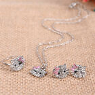 Crystal Cat Stud Necklace / Earrings / Ring Bowknot  For New Fashion Girls -W