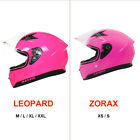 LEOPARD LEO813 Full Face Motorcycle Motorbike Helmet On Road Visor Optional 2019