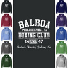 Rocky BALBOA BOXING CLUB Hoodie Sweatshirt Sylvester Stallone Philadelphia Fight