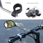 EP_ 1 Pair Bicycle Rear View Glass Mirror Bike Handlebar Wid