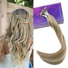 50g Double Drawn Human Hair Extensions Ombre Prebonded Nano Ring Bead Tip Hair