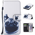 Hand Strap Magnetic Flip stand Card Leather wallet + TPU Case Cover For iPhone