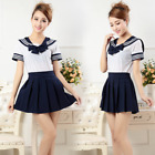 Bowknot Cosplay Costume Japanese School/Sailor Girls Outfit Uniform Skirt Dress