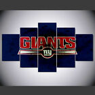 New York Giants logo 5 Pcs Canvas Wall Art Printed Picture and Poster Home Decor