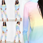 Ladies Womens Lounge Wear Rainbow Tracksuits Active Joggers 2 Pcs Tracksuit 8-26