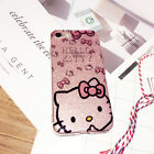 Bling For iPhone X 8 7 Plus Glitter Cute Hello Kitty Case Sparkle KT Strap Cover