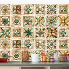 Pack of 16 Vintage Tile Stickers Wall Kitchen Bathroom Floor Decor Vinyl Decal