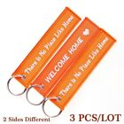 3pcs Remove Before Flight Aviation Gifts Key Tag Key Chain for Scooters and Cars