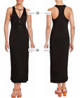 FREE PEOPLE LARGE Sin City Twisted Front Maxi Dress New Tags ltg