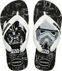 Havaianas Genuine Men Youth Star Wars Rubber Flip Flop Black White All Sizes $32.95 AUD