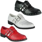 Womens Studded Buckle Shoes Ladies Low Heel Stud Comfy Slip on Fashion Flats